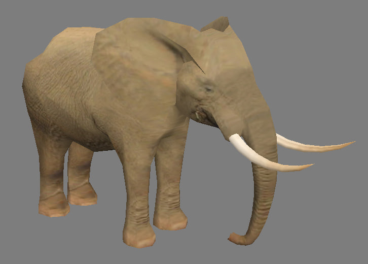 3d elephant - model
