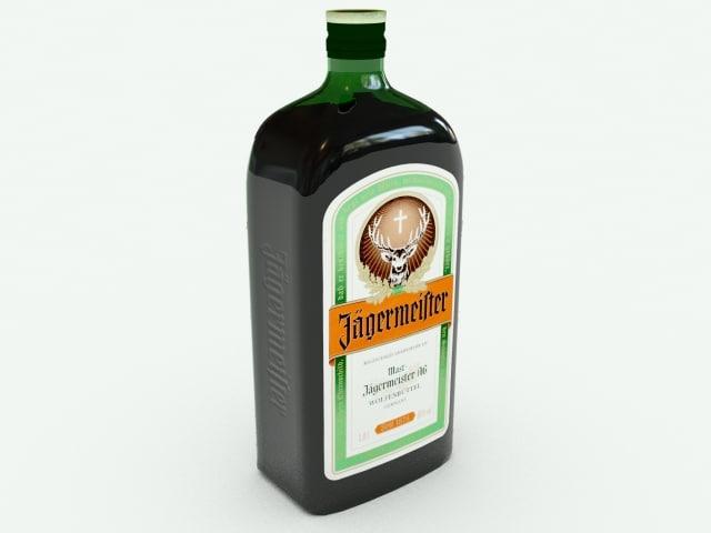 jagermeister bottle 3d max