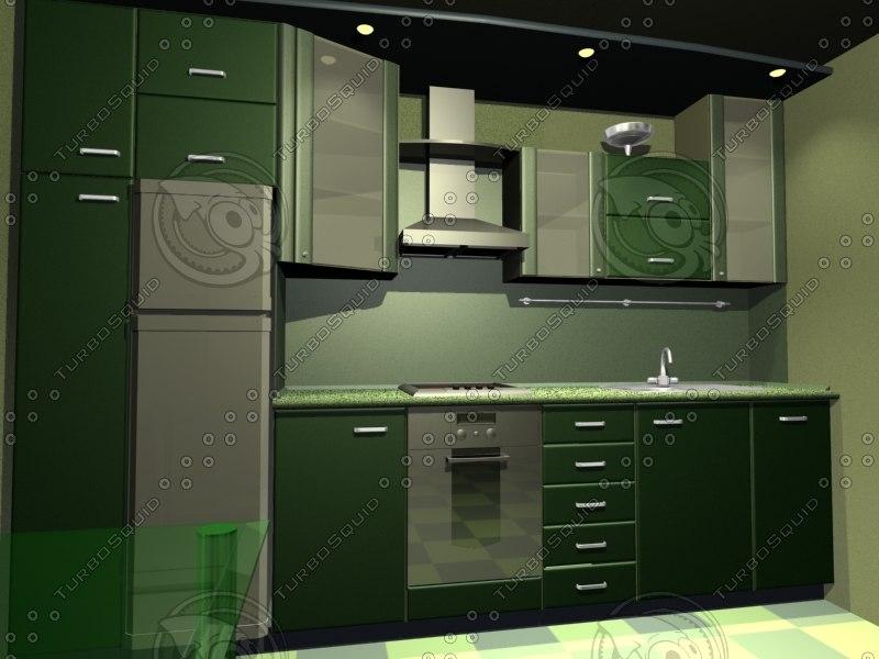 3dsmax kitchen scene
