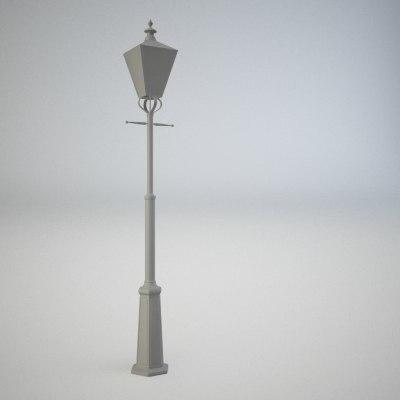 3ds old style street lantern