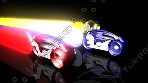 3d model tron light cycles