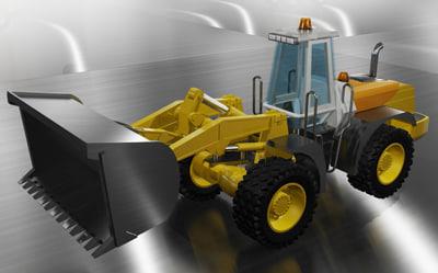 bucket loader 3d model