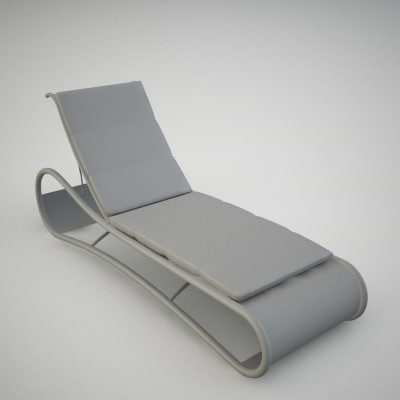 3ds chaise longue for Chaise longue dwg