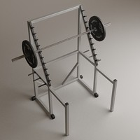 3d large rack model