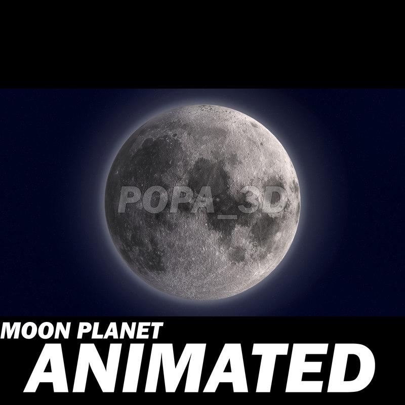 moon animation 3d model