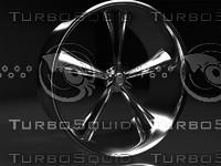 muscle car rim 3d max