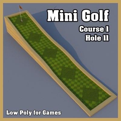 mini golf hole 3d model