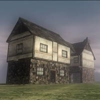 old houses 3d max