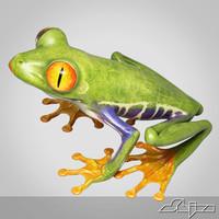 3d model frog amphibian