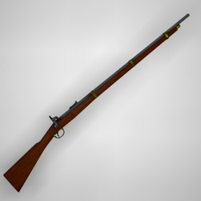 3d civil war rifle model