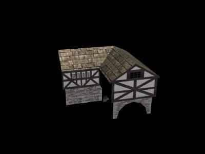 3d model tavern polies gaming