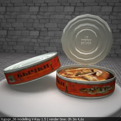 canned fish ussr 3d max