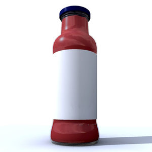 3ds max tomato bottle