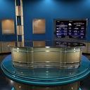 3d model news talk set