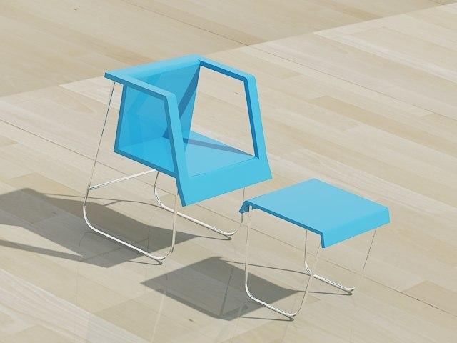 design modern chair table 3d model