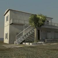 3ds max barn farm house building