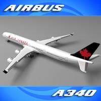 3d air canada a340 model