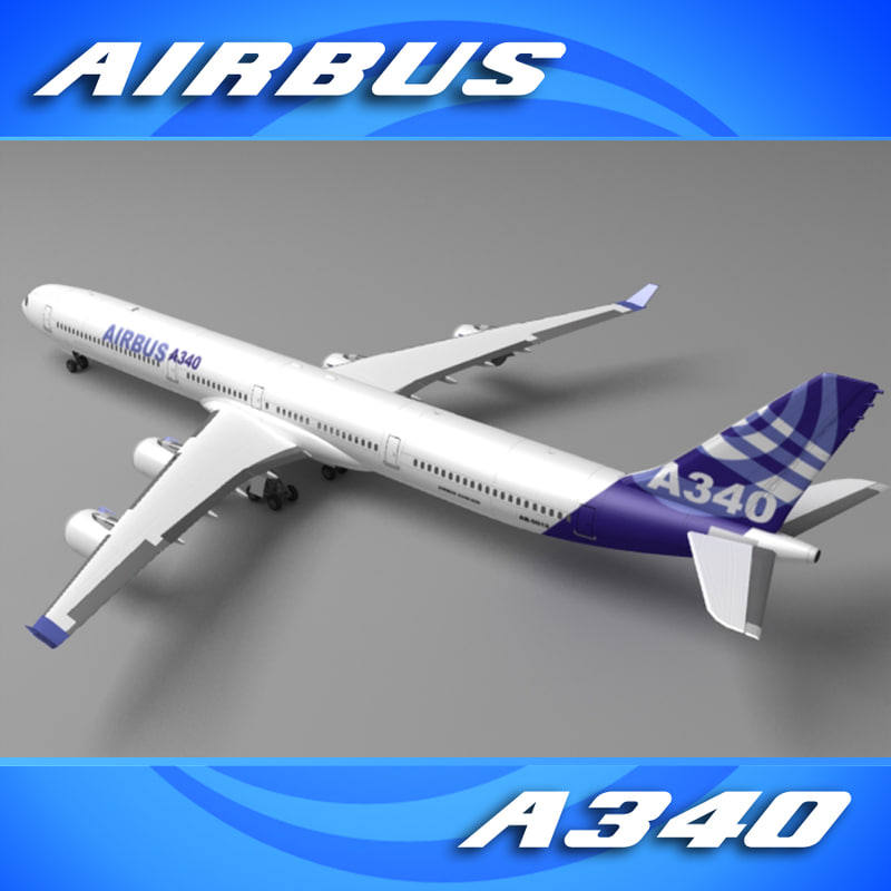 airliner house colors a340 3d max