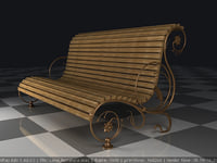 Set of furniture with elements of forged metal