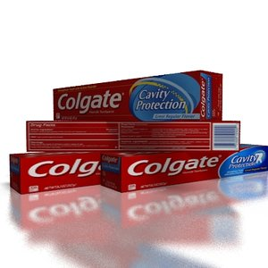 3d colgate paste toothpaste model