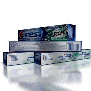 crest paste toothpaste 3d model
