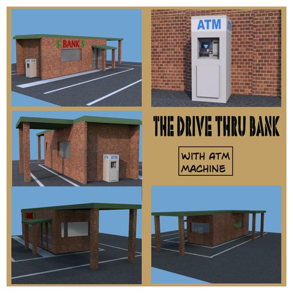 bank drive 3d obj