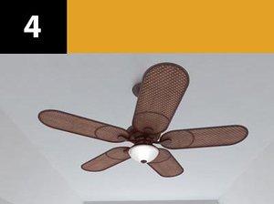 ceiling fan 4 3d model