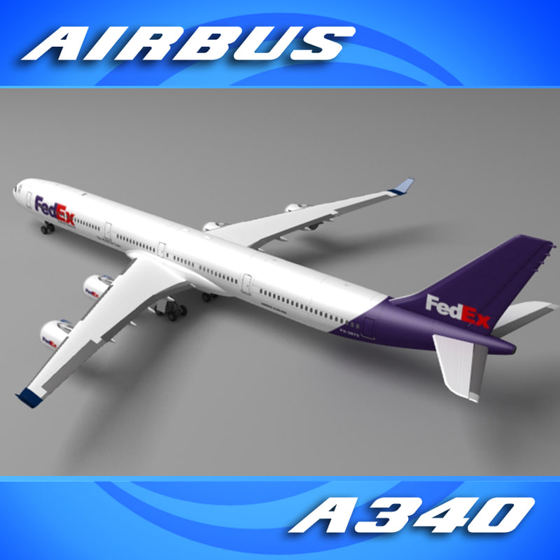3d model popular freight company a340