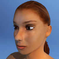 female human character dasha 3d max