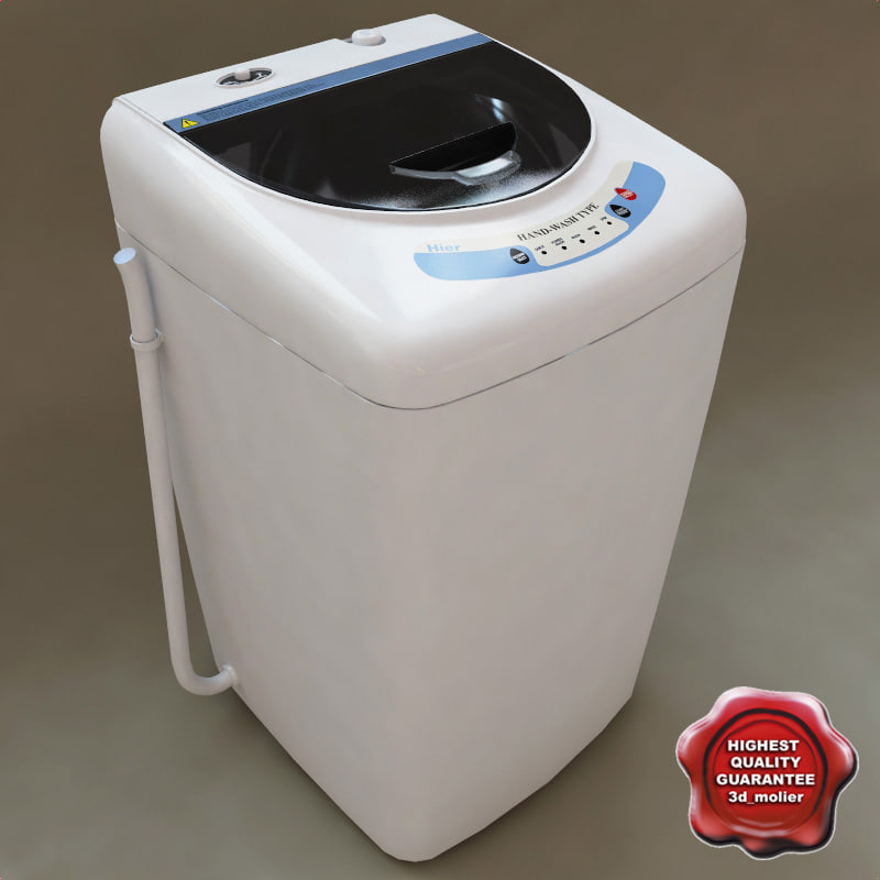haier portable washing machine. 3dsmax haier hlp21e portable washer washing machine