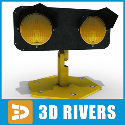 3ds max runway traffic light