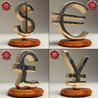 3ds max monetary symbols