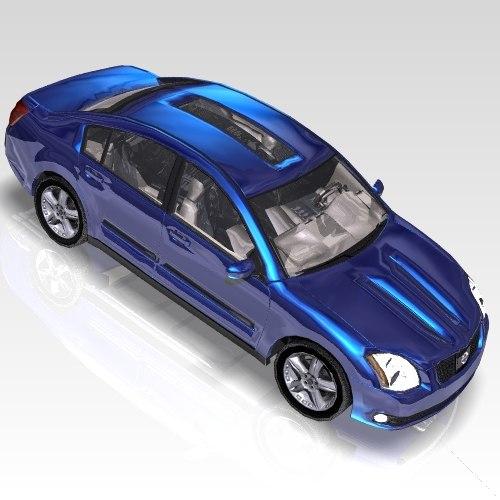 car nissan maxima sports 3d max. Black Bedroom Furniture Sets. Home Design Ideas