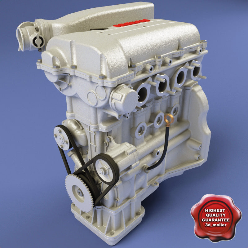 3d nissan engine
