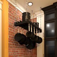 pots rack 3d model