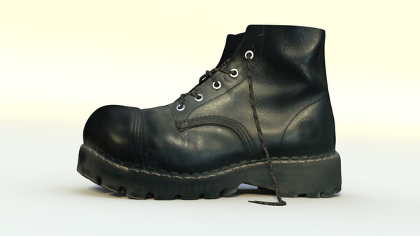 3d model army boots shoes