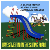 sliding board obj