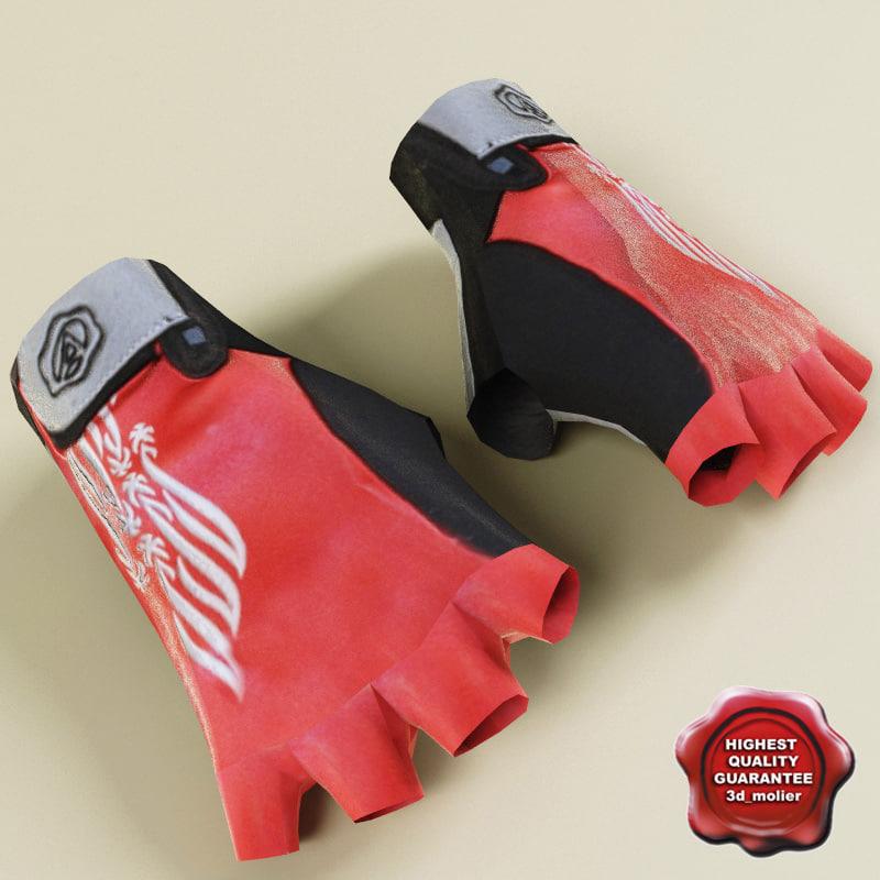 sport gloves 3d 3ds