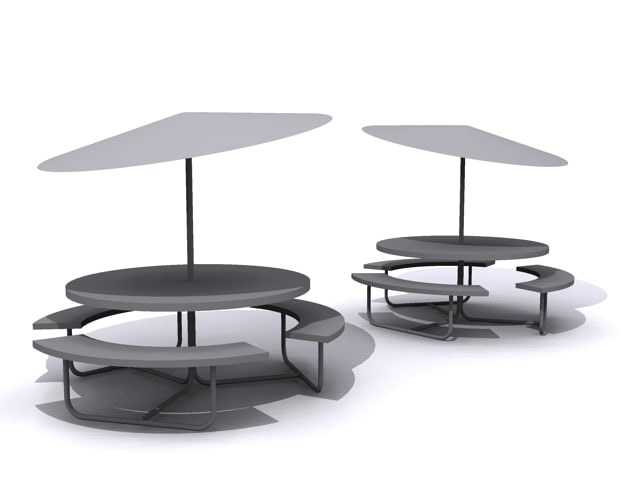 lunch table 3d max