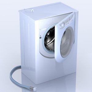 3d model of washing machine ariston aqualtis