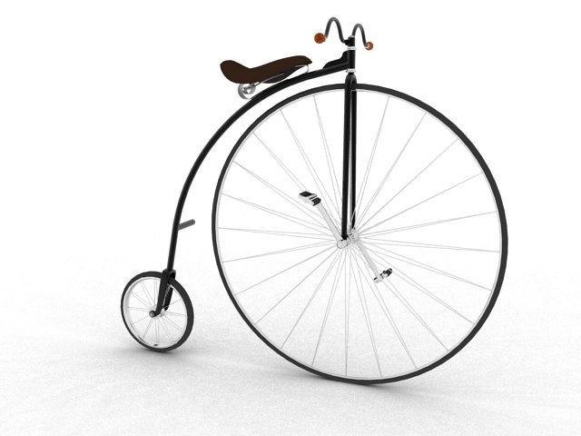 xix century bicycle 3d model