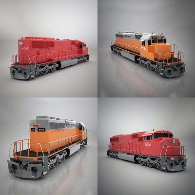 3d sd40 locomotive model