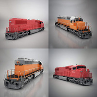 3d sd40 locomotive model