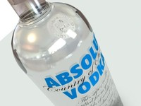 absolut vodka 3d max