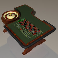 american roulette wheel table 3d model