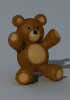 teddybear fur 3d max