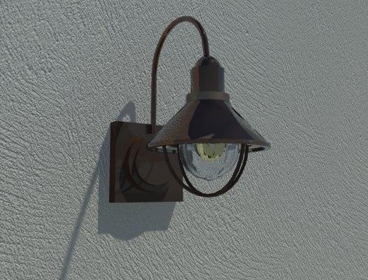 3d exterior light fixture model