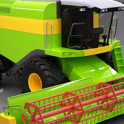 3d model generic farm combine