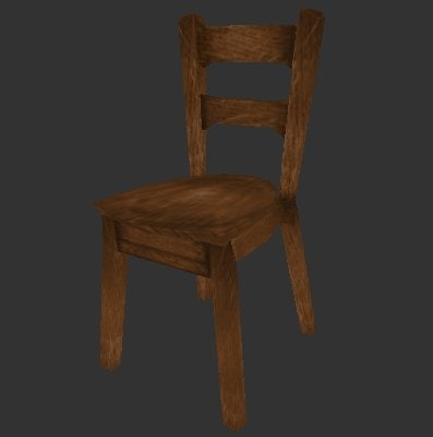 wooden chair obj free