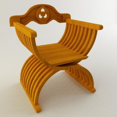 3d old arm chair model